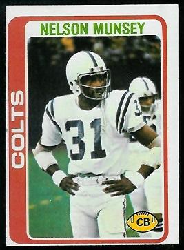 Nelson Munsey 1978 Topps football card