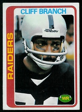 Cliff Branch 1978 Topps football card
