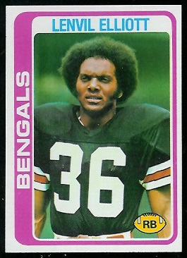 Lenvil Elliott 1978 Topps football card
