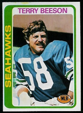 Terry Beeson 1978 Topps football card