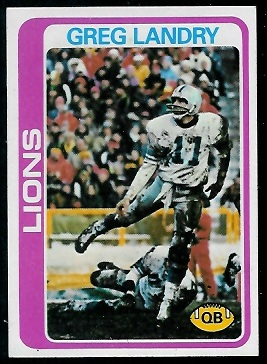 Greg Landry 1978 Topps football card