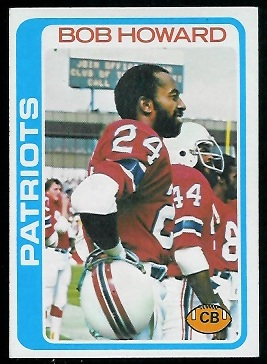 Bob Howard 1978 Topps football card