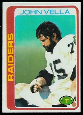 John Vella 1978 Topps football card