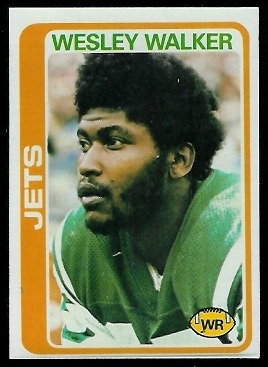 Wesley Walker 1978 Topps football card