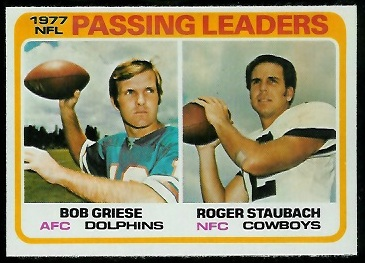 Passing Leaders 1978 Topps football card