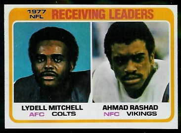 Receiving Leaders 1978 Topps football card