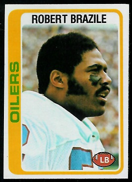 Robert Brazile 1978 Topps football card