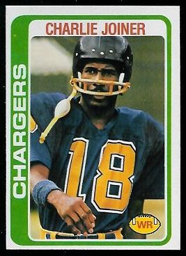 Charlie Joiner 1978 Topps football card