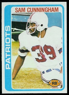 Sam Cunningham 1978 Topps football card