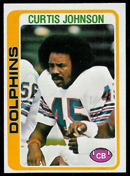 Curtis Johnson 1978 Topps football card