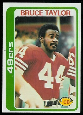Bruce Taylor 1978 Topps football card