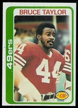 Bruce Taylor 1978 Topps football card