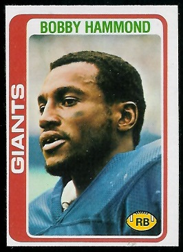 Bobby Hammond 1978 Topps football card