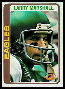 Larry Marshall 1978 Topps football card