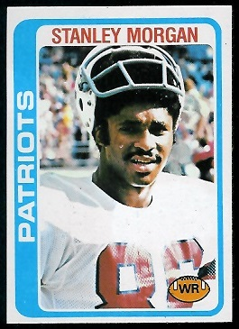 Stanley Morgan 1978 Topps football card