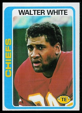 Walter White 1978 Topps football card