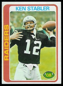 Ken Stabler 1978 Topps football card