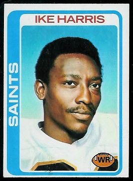Ike Harris 1978 Topps football card