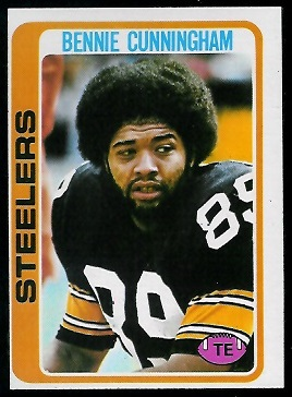 Bennie Cunningham 1978 Topps football card