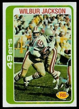Wilbur Jackson 1978 Topps football card