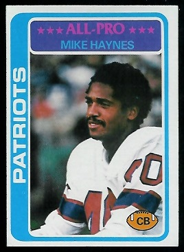 Mike Haynes 1978 Topps football card