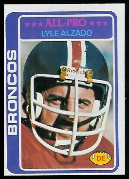 Lyle Alzado 1978 Topps football card
