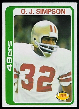 O.J. Simpson 1978 Topps football card