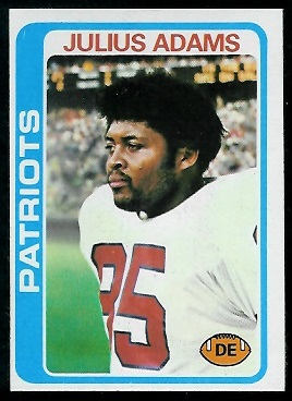 Julius Adams 1978 Topps football card