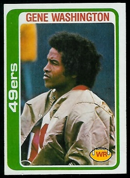 Gene Washington 1978 Topps football card