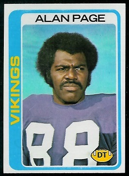 Alan Page 1978 Topps football card