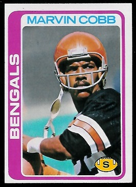 Marvin Cobb 1978 Topps football card