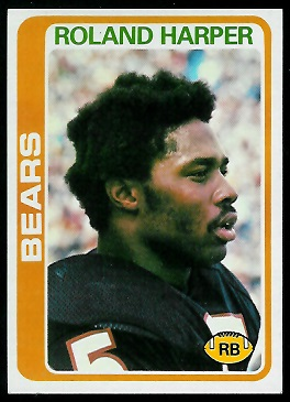Roland Harper 1978 Topps football card