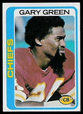 Gary Green 1978 Topps football card