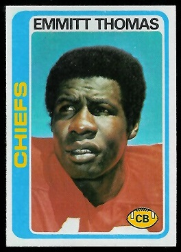 Emmitt Thomas 1978 Topps football card