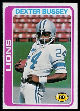 Dexter Bussey 1978 Topps football card