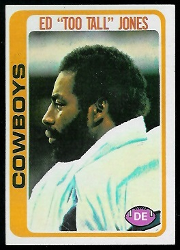 Ed Jones 1978 Topps football card