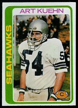 Art Kuehn 1978 Topps football card