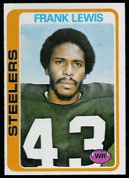 Frank Lewis 1978 Topps football card