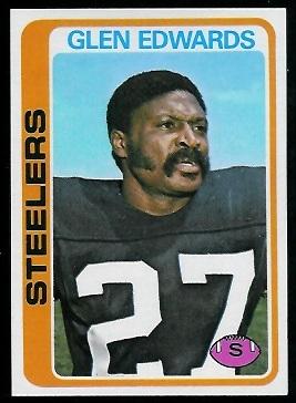 Glen Edwards 1978 Topps football card