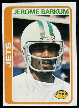 Jerome Barkum 1978 Topps football card