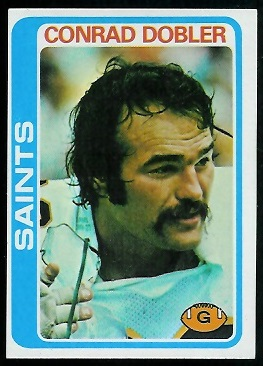 Conrad Dobler 1978 Topps football card