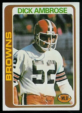 Dick Ambrose 1978 Topps football card