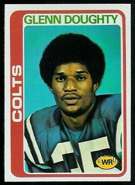 Glenn Doughty 1978 Topps football card