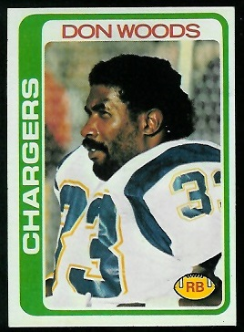 Don Woods 1978 Topps football card