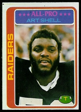 Art Shell 1978 Topps football card