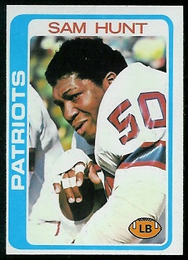 Sam Hunt 1978 Topps football card
