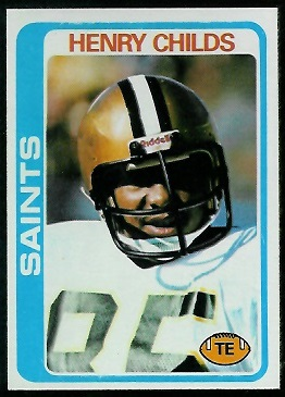 Henry Childs 1978 Topps football card