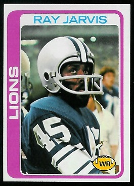 Ray Jarvis 1978 Topps football card