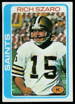 Rich Szaro 1978 Topps football card