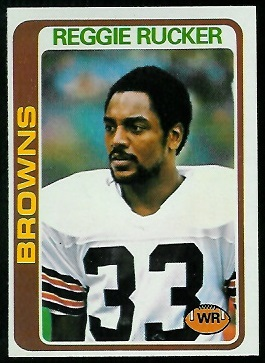 Reggie Rucker 1978 Topps football card